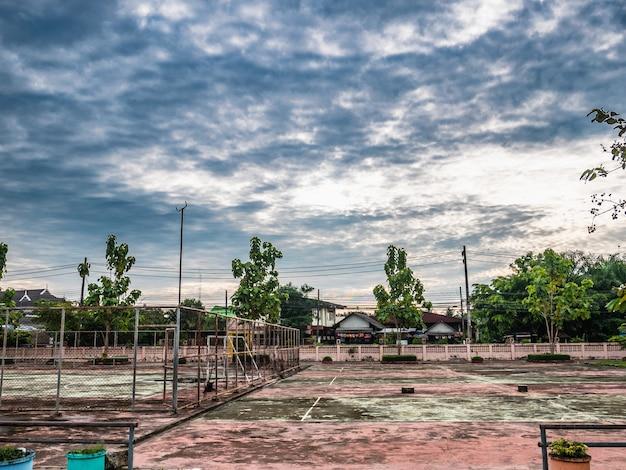Antigo tribunal futsal Foto Premium