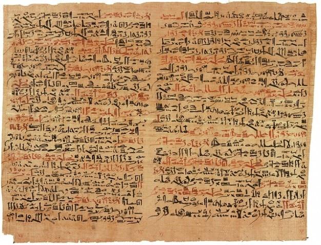 Antigos hieróglifos egípcio papiro Foto gratuita