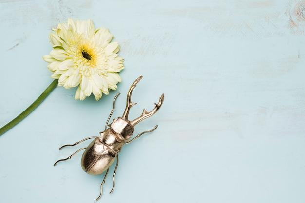 Apartamento leigos de flores com copyspace Foto gratuita