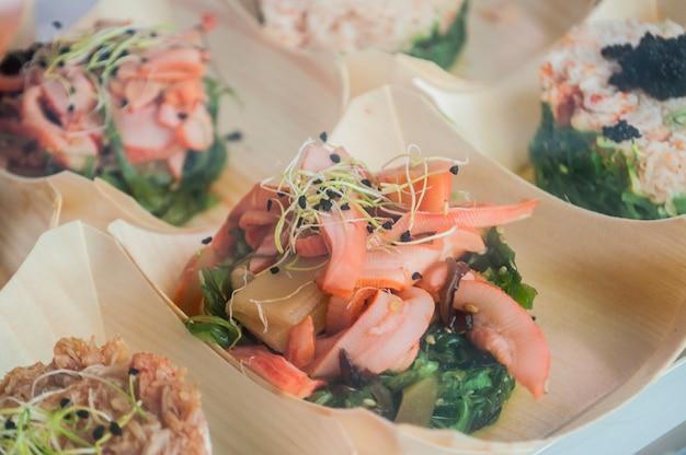 Aperitivo de frutos do mar Foto Premium