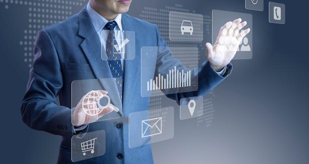 Aplicação moderna e tecnologia Foto Premium
