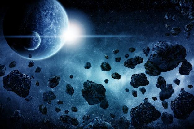 Apocalipse de explosão do planeta Foto Premium