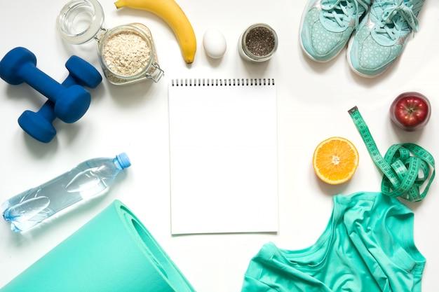 Aptidão do conceito e nutrição adequada saudável. Foto Premium
