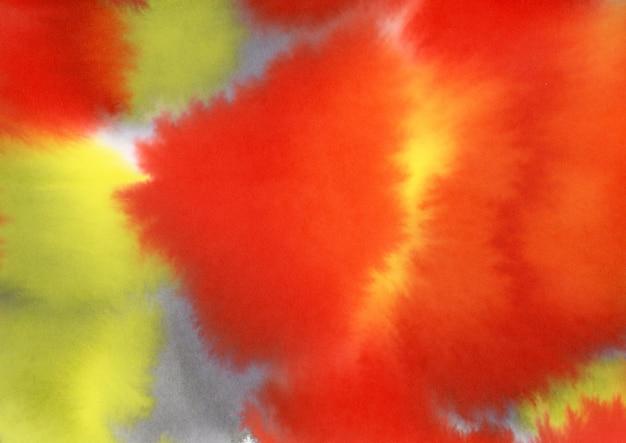 Aquarela amarela vermelha Foto gratuita