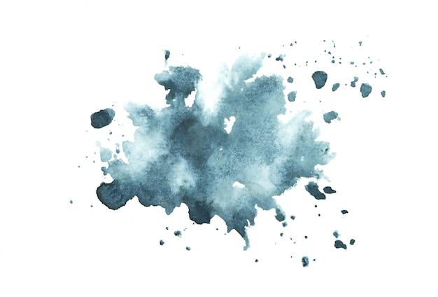 Aquarela azul escura com tons coloridos pintar o fundo do traçado Foto Premium