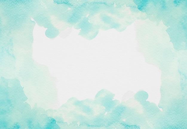 Aquarela cópia espaço tinta azul claro Foto Premium