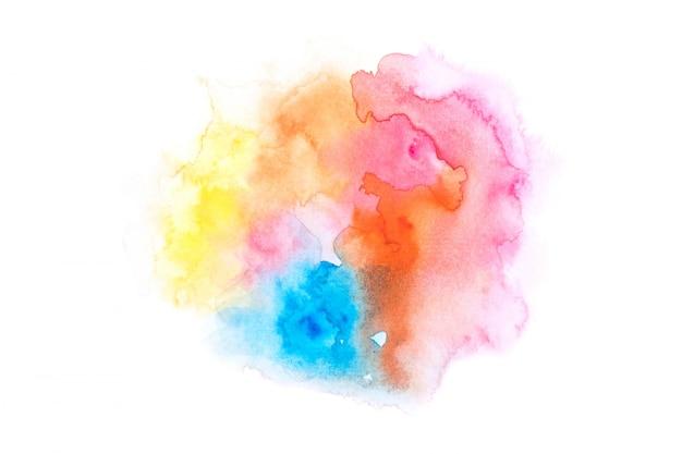 Aquarela de arco-íris com design de textura de fundo colorido Foto Premium