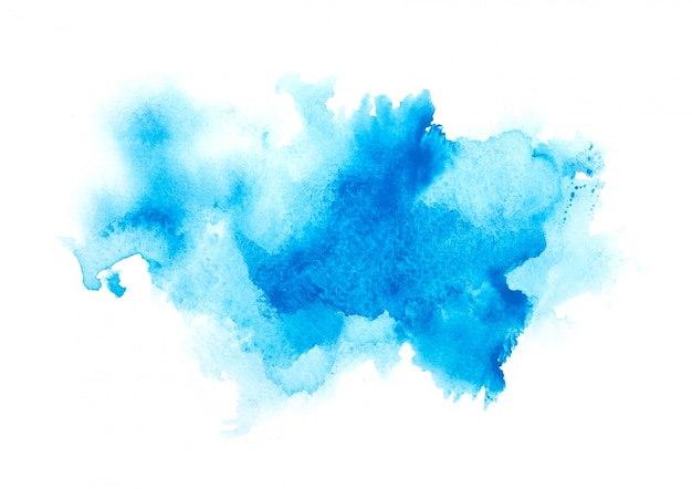 Aquarela de cor azul. Foto Premium