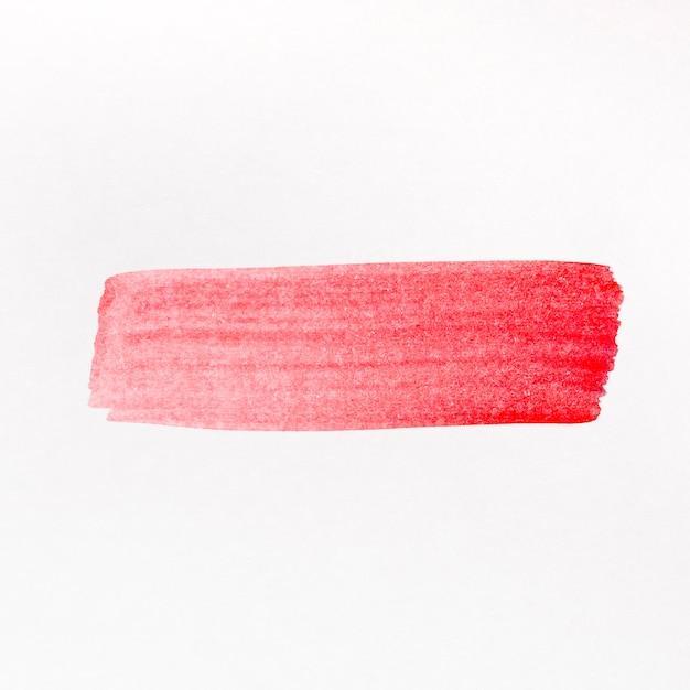 Aquarela de linha pincel vermelho pintada Foto gratuita