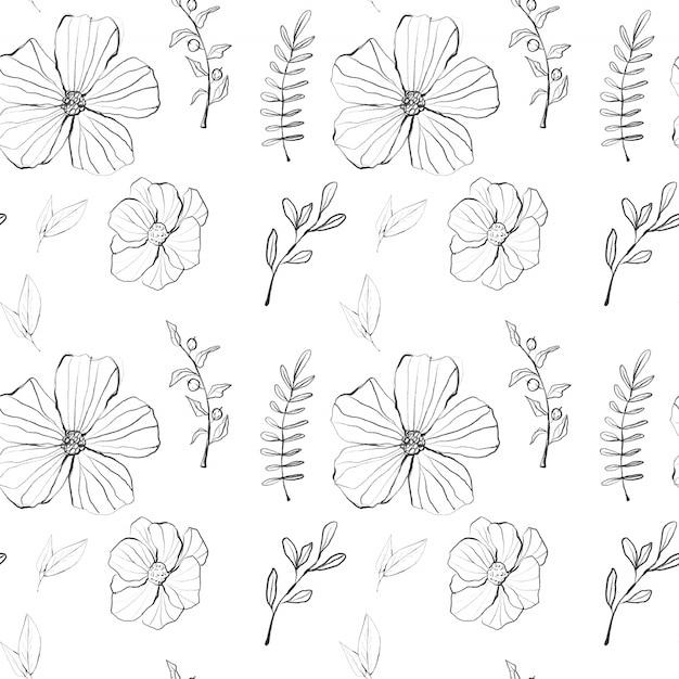 Aquarela gráfico padrão floral Foto Premium