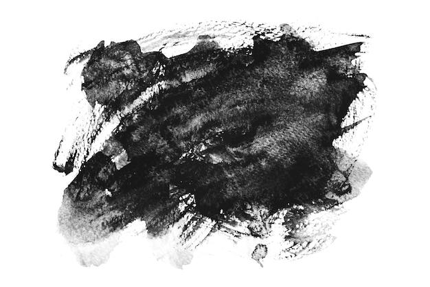Aquarela preta espirrando, mão de desenho Foto Premium