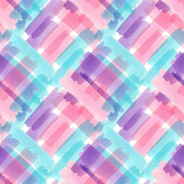 Aquarela sem costura padrão com textura colorida. design moderno Foto Premium