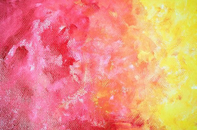 Aquarela vermelho amarelo abstrato. Foto Premium