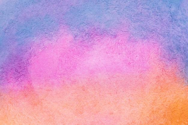 Aquarelle de técnica artesanal de gradiente colorido Foto gratuita
