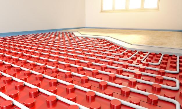 Aquecedor de piso radiante Foto Premium