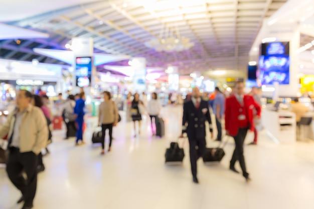 Área de embarque no aeroporto fundo desfocado Foto Premium