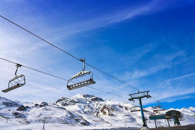 Área de esqui formigal em huesca pirinéus espanha Foto Premium