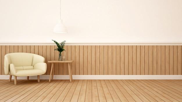 Área de estar em café ou lounge Foto Premium