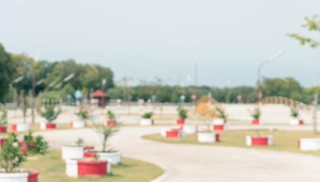 Área de prática de carro turva com simulação de teste de estrada para a segurança na escola de condução Foto Premium