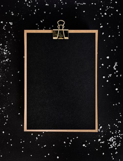 Área de transferência da vista superior com espaço de cópia Foto gratuita