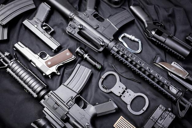 Arma moderna, preta Foto Premium