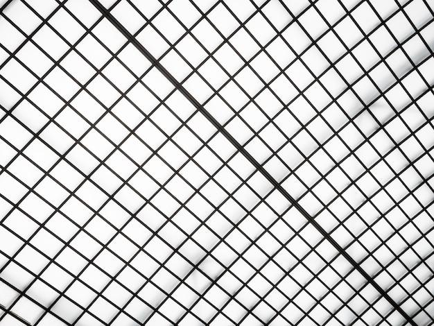Arquitetura abstrata do exterior do telhado de vidro Foto gratuita