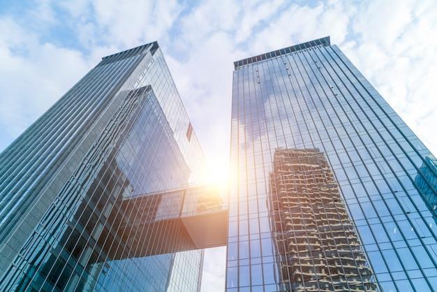 Arquitetura abstrata entrada azul perspectiva financeira Foto gratuita