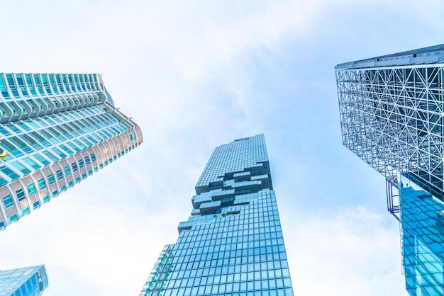 Arquitetura arranha-céu comercial edifício exterior Foto Premium