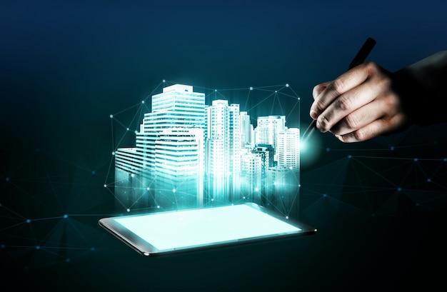 Arquitetura e engenharia de construção inovadoras. Foto Premium
