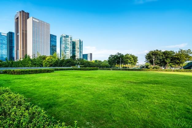 Arquitetura moderna de horizonte urbano Foto Premium
