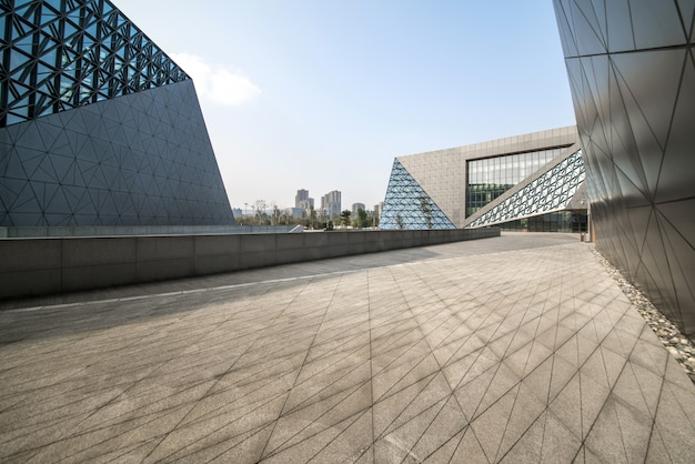 Arquitetura moderna do art center em chongqing, china Foto Premium