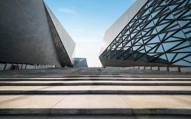 Arquitetura moderna do art center em chongqing, china Foto Premium