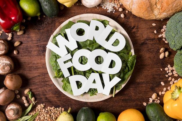 Arranjo de colheita do dia mundial da alimentação Foto gratuita