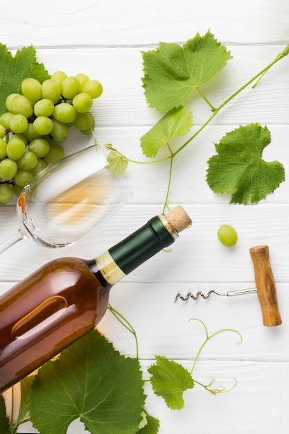 Arranjo de videiras e vinho de conhaque Foto gratuita