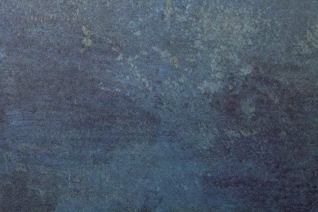 Arte abstrata fundo azul marinho e cores jeans. pintura em aquarela sobre papel áspero Foto Premium