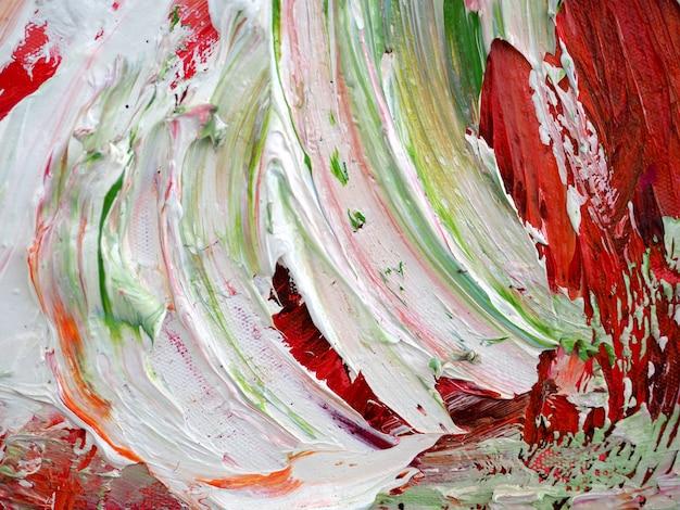 Arte colorida do brushstroke no fundo do sumário da lona e textured. Foto Premium