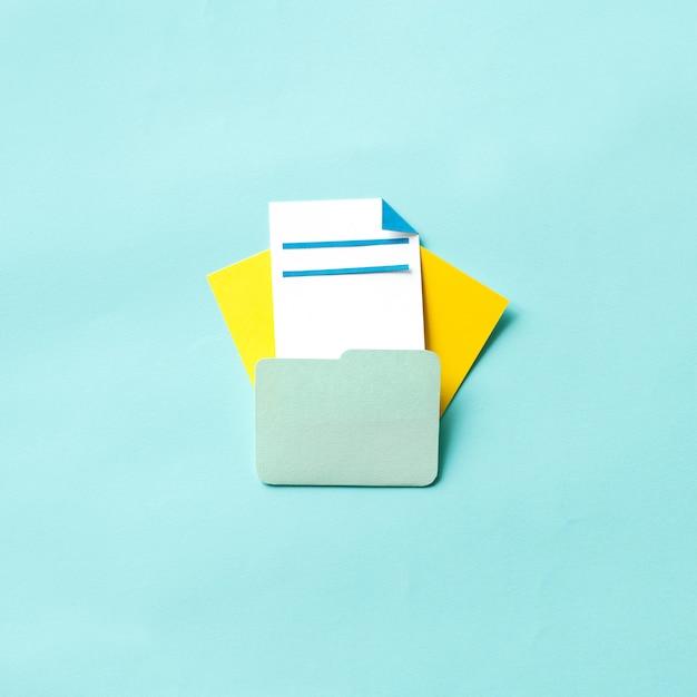 Arte de artesanato de papel da pasta de documentos Foto gratuita