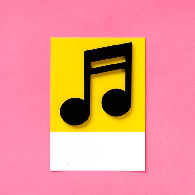 Arte de papel ofício de uma nota musical Foto gratuita