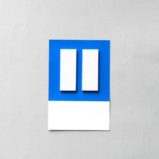 Arte em papel ofício de botão de pausa Foto gratuita