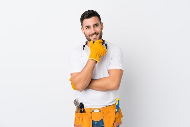 Artesãos ou eletricista homem posando Foto Premium