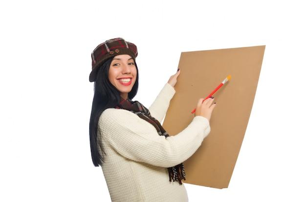 Artista mulher isolado Foto Premium