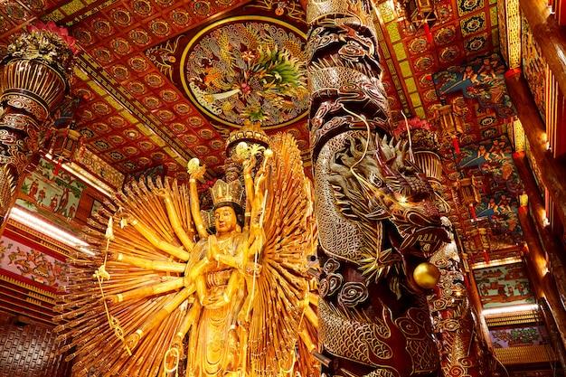 As imagens de guanyin, deus chinês Foto Premium