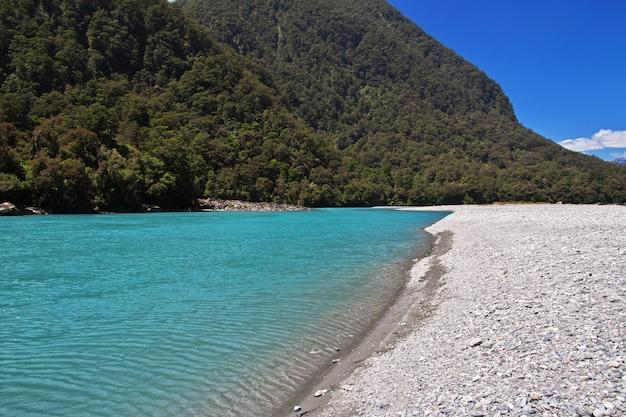 As montanhas e o vale da ilha sul, nova zelândia Foto Premium