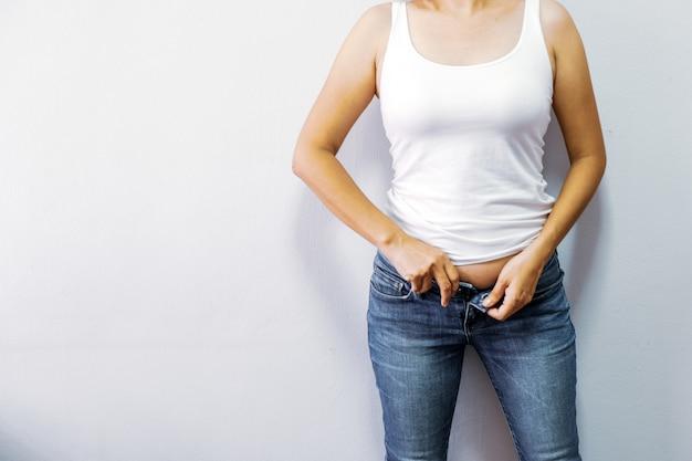 As mulheres com obesidade querem se exercitar para serem saudáveis. Foto Premium