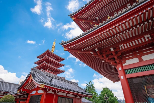 Asakusa, tóquio, japão - 19 de junho de 2018 - sensoji é um antigo templo budista durante o dia em asakusa, tóquio, japão. Foto Premium