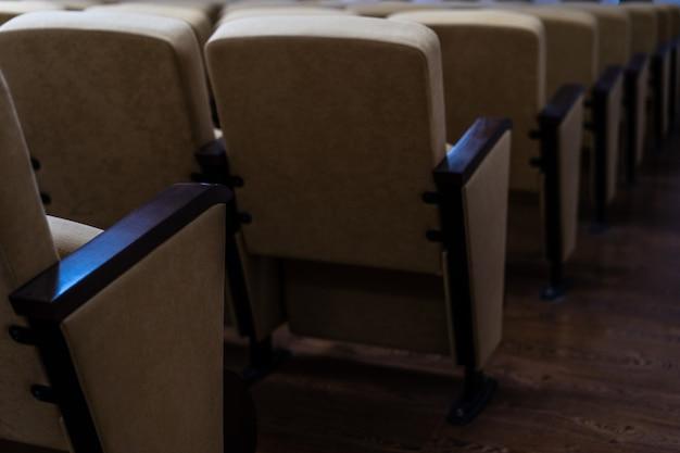 Assentos na sala de cinema e concertos Foto Premium