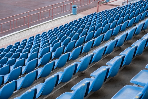 Assentos no estádio Foto Premium