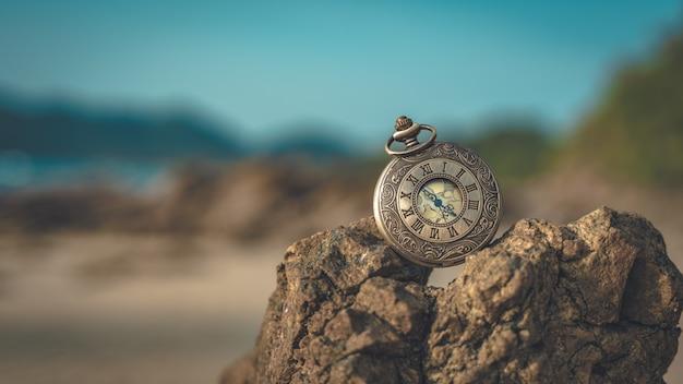 Assista na pedra do mar Foto Premium