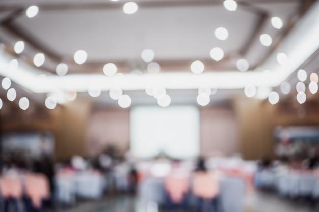 Atrás de audiência audiência discurso na sala de conferências Foto Premium
