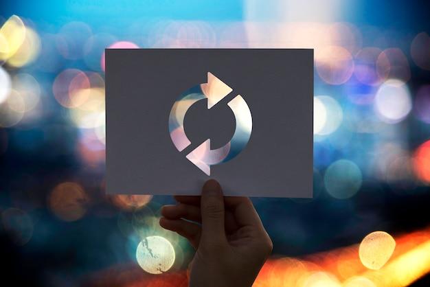 Atualizar ícone recarregar papel perfurado Foto gratuita
